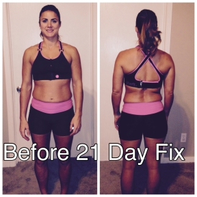 Winter 2015 Before 21 Day Fix Extreme